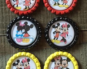 Mickey Mouse Bottle Cap, Minnie Mouse Bottle Caps