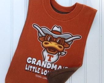 Longhorn Pull Over T-Shirt Bib! Perfect gift for your littlest UT fan!