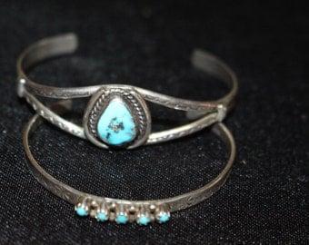 PAIR of INFANT/CHILDS Sterling bracelets
