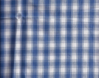 Blue Check Curtain Valances