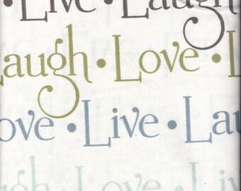 Live Love Laugh Words Curtain Valances