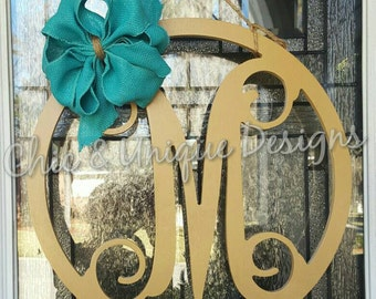 Large Wooden Vine Initial
