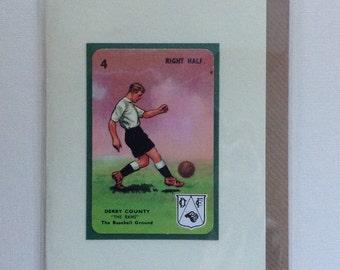 Original 1950s 'Goal' card Derby County
