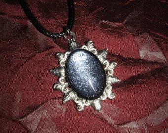 Chain 18 x 13 [dark glitter - silver]