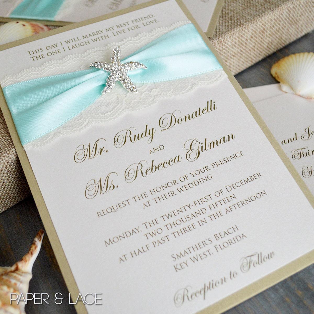 starfish wedding invitations