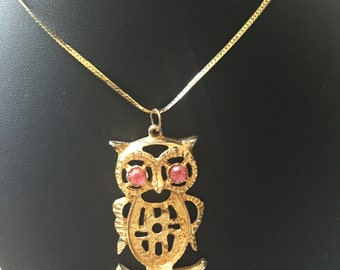 Owl Pendant and Necklace