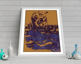 Print, Wall Art, Decor, Colorful Abstract Print