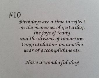 Birthday message #10
