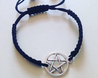 Pentagram bracelet, wicca bracelet , pagan jewelery, wicca