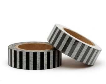 Washi Tape Black Stripe 10m for Scrapbooking