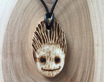 Baby Groot Guardians of the Galaxy Wooden necklace
