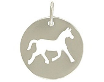 Sterling Silver Cutout Horse Charm