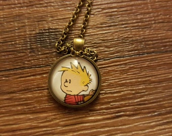 Calvin from Calvin and Hobbes pendant necklace