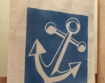 Nautical Tote Bag Handpainted