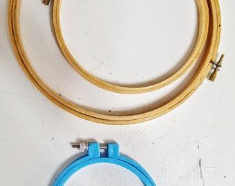 Set of 3 Hand Emboridery Hoops