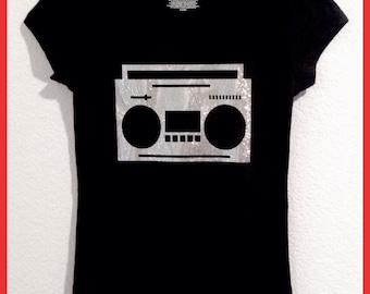 Boombox  shirt in ladies and girls sizes