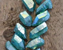 Aqua aura quartz point, aqua crystal, aura crystal, boho gifts, crystal gifts