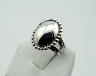 Vintage Hand Made Hollow Dome Sterling Silver Ring #VTGHB-SR1