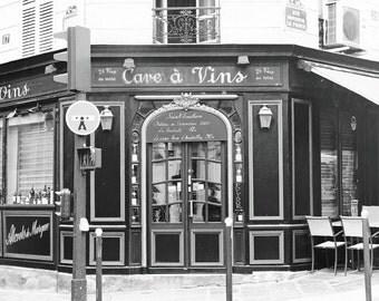 Paris Cafe, Photography Print, Black and White, Paris Decor, French Cafe, Bistro, Wall Art, Travel Picture, Paris Photo, 8 x 10 Print