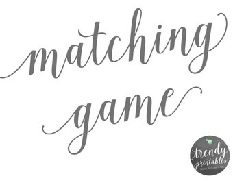 Matching Games, Baby Shower, Bridal Shower, Invitations, Gender Reveal Games, Baby Shower Games, Bridal Shower Games, Trendy Printables