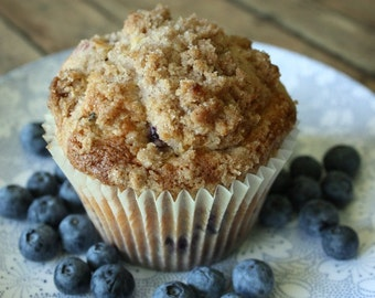 6 Jumbo Blueberry Muffins
