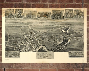 Elkton Maryland Vintage Print Poster Map 1907 Poster of MD Map Art Wall Decor