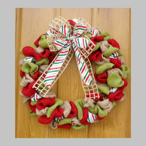 18 inch christmas burlap wreath by BurlapCreationsNMore on ...