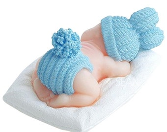 Karen Baking New Arrival The Sleeping Baby Design 3 D Silicone Mold Chocolate Fudge Cake Decorating Tools
