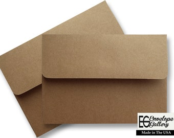Kraft Grocery Bag Brown  (100 Boxed) Envelopes 70lb for Invitations Announcements Greeting Response Cards Enclosures Shower Wedding A2 A6 A7