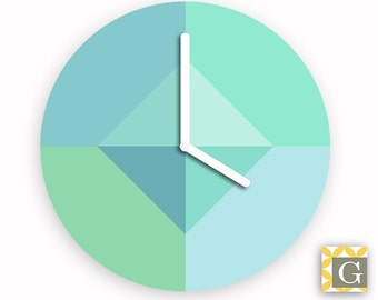 Wall Clock by GABBYClocks - Geometric Sea No. 6