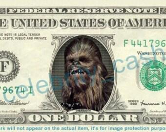 Chewbacca REAL Dollar Bill - Star Wars Force Awakens