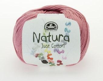 Set of 3 balls of DMC Natura Just Cotton Spring Rose (N07) 100% Cotton, 50g, Length 155m 4 ply-DK