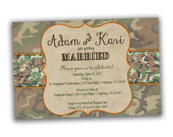 camo wedding invitation  etsy, invitation samples
