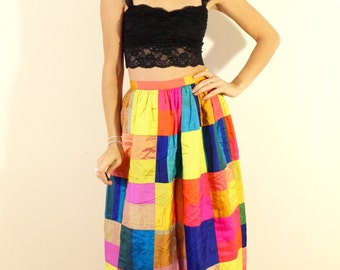 1950s Quilt Patch Skirt
