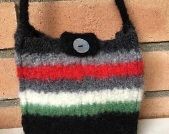 Little Black Wool Felted Bag