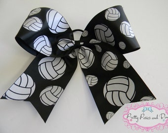 Volleyball Hair Bow, Volleyball Bow, Volleyball Cheer Bow