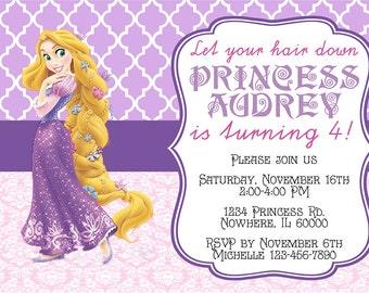 Princess Rapunzel/Tangled Birthday Invitation