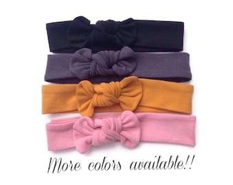 Baby knot headbands - knot headbands baby - girl knot bows