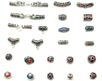 DIY 925 Thai Silver Sterling Pendant Beads Accessories from Nepal Wholesale-WEN27245604450-CLR