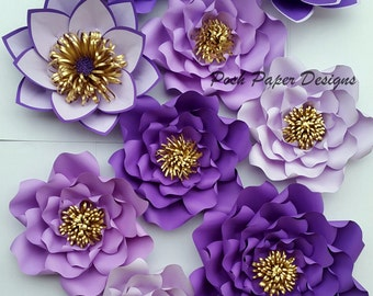 Paper flower backdrop, Paper flower wall, , Paper flower decor, Wedding Backdrop, large paper flowers