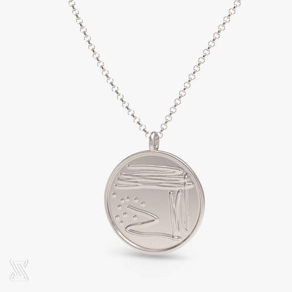 Science Jewelry: Silver Bacterial Petri Dish By Somersault1824
