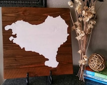 17x17 Wood Wall Art - Basque Country silhouette