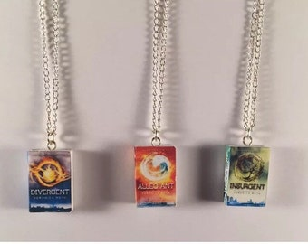 Divergent Book Series Necklaces - Divergent Insurgent Allegiant