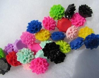Resin Flower Flatbacks