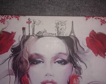Canvas woman pictures paint
