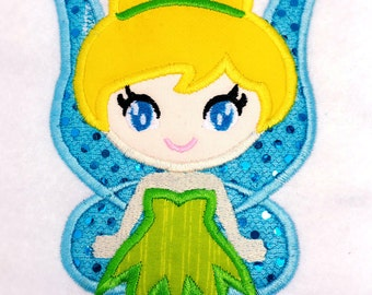 Cute Tinkerbell Applique Design dst, exp, hus, jef, pes, sew, vip, vp3, Formats Digital INSTANT DOWNLOAD