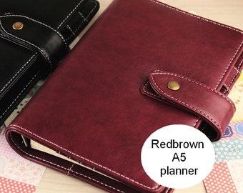 A5 redbrown planner (look a like Malden)