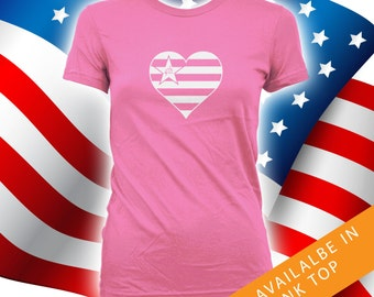 I Heart Fourth of July shirt - happy 4th of july shirt women, mens tshirt, independence day, fourth of july, july 4th shirts, tees CT-479
