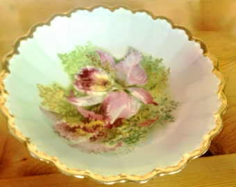 Hand Painted Serving Bowl Marked Steubenville Also Empire China Co.