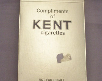 KENT Cigarettes Playing Cards - Unopened Promotional Pack Circa 1970s
